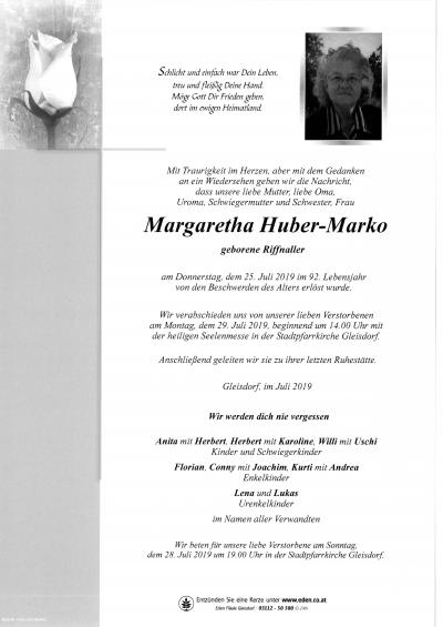 Huber-Marko