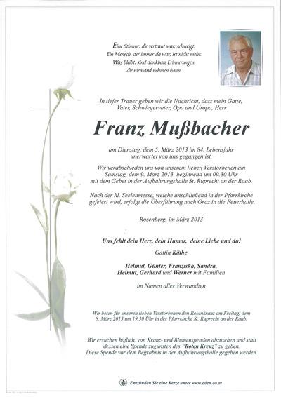 Mußbacher